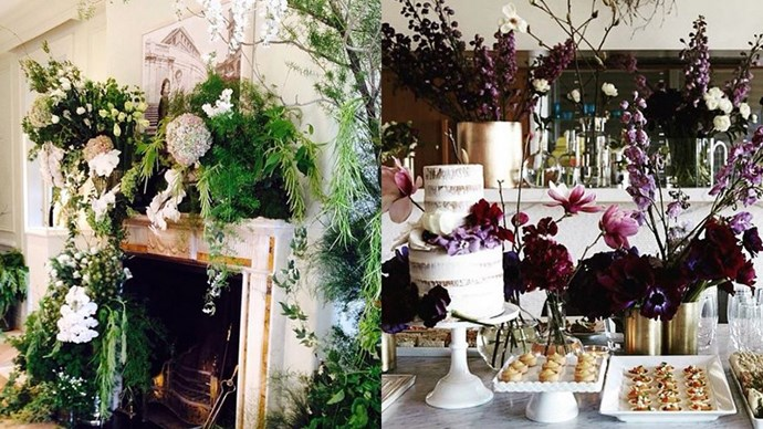 """<strong>The Flowers:</strong> <a href=""""https://instagram.com/grandiflora_sydney """"><em>@grandiflora_sydney</em></a><br><br> Native flora mixed with traditional favourites (a la white and peach peonies) have made Grandi Flora a Sydney institution and fashion industry favourite."""