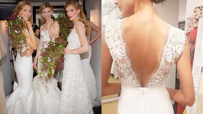 "<strong>The Dress:</strong> <a href=""https://instagram.com/houseofherrera/"">@houseofherrera</a><br><br> <a href=""http://www.harpersbazaar.com.au/bazaar-brides/real-brides/2015/8/best-celebrity-wedding-dresses-of-all-time/best-celebrity-wedding-dresses-of-all-time-image-10/"">Olivia Palermo</a> had her wedding dress designed by Carolina Herrera - need we say more?"