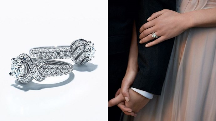 """<strong>The Rings:</strong> <a href=""""https://instagram.com/tiffanyandco/""""><em>@tiffanyandco</em></a><br><br> You know what they say about diamonds and girls, right?"""