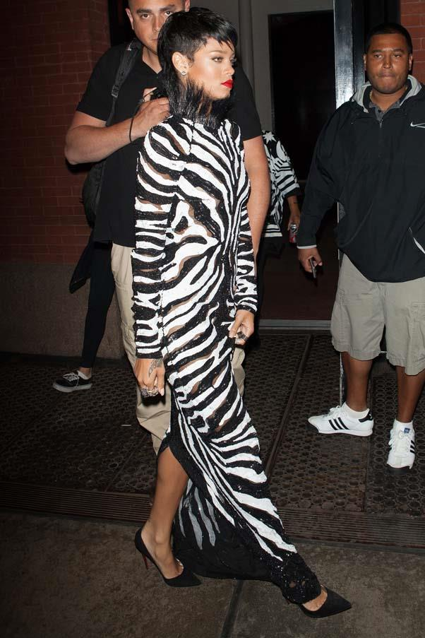 <strong>More is more</strong> <br> The revitalization of Ford's brand brought with it a maximalist aesthetic that challenged the reigning minimalism of the moment. Magpies like Rihanna were fully on-board for Fall 2013's sequin zebra dress.