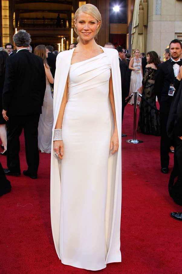 <strong>When in doubt don a cape </strong> <br> Arguably one of the best Oscar gowns of all time, Paltrow stole the show in Tom Ford a year when she wasn't even nominated. Such is the power of a dramatic dress.