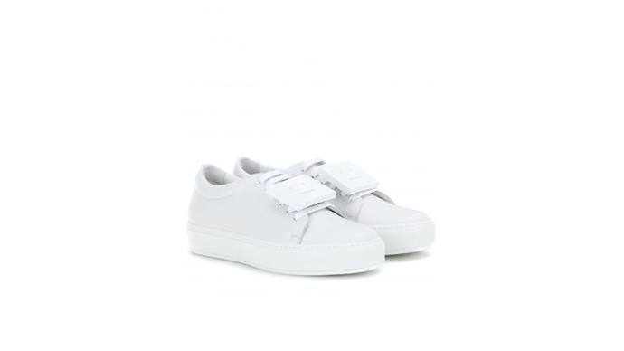 """<strong>Deborah Thomas, <a href=""""http://www.dilettante.net/"""">Dillettante</a>:</strong> <br><br> """"We cannot keep up with demand for the Acne Adriana sneaker. It's a classic all-white sneaker that effortlessly updates any outfit."""" <br><br> Stockist: (08) 9322 2717"""