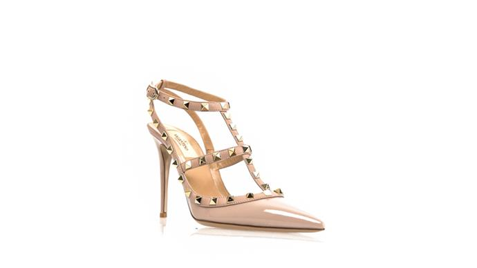 """<strong>Kristie Manuel, <a href=""""http://www.thestyleset.com/aspx/home.aspx"""">The Style Set</a>: </strong> <br><br> """"The Valentino Rockstud pumps in poudre (nude) patent is our most popular piece. There is a year-round waitlist for this cult heel."""" <br><br> Valentino heel, $1289, from <a href=""""http://www.thestyleset.com/aspx/product.aspx?pid=1671&pn=ROCKSTUD%20SLINGBACK%20HEEL%20IN%20POUDRE&s=n"""">Style Set</a>"""