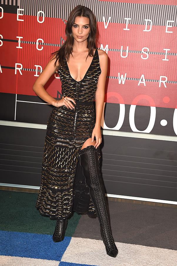 "In Altuzarra at the <a href=""http://www.harpersbazaar.com.au/people-parties/flash/2015/8/the-2015-vma-red-carpet/the-2015-vma-red-carpet-image-25/"">VMAs</a>."