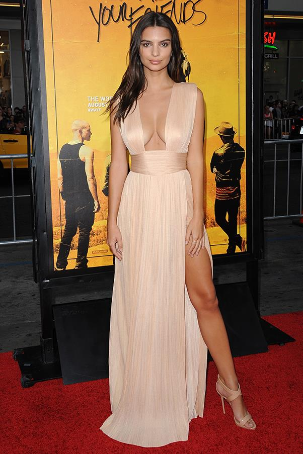 In Maria Lucia Hohan dress and Giuseppe Zanotti heels at <em>We Are Your Friends</em> premiere.