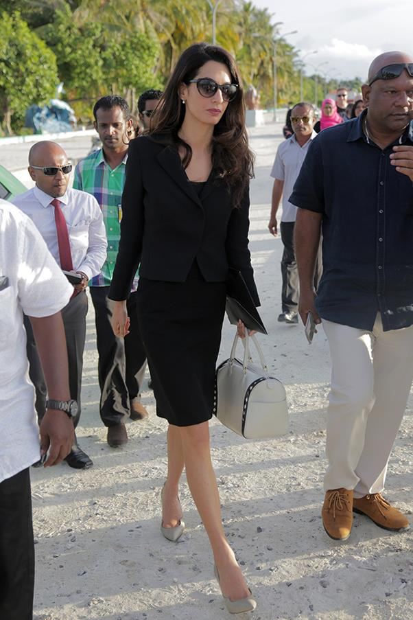 <strong>What: </strong>Paul Andrew Pumps<br> <strong>When:</strong> September 8, 2015<br> <strong>Where:</strong> Visiting Maldivian former president Mohamed Nasheed in jail in the Maldives
