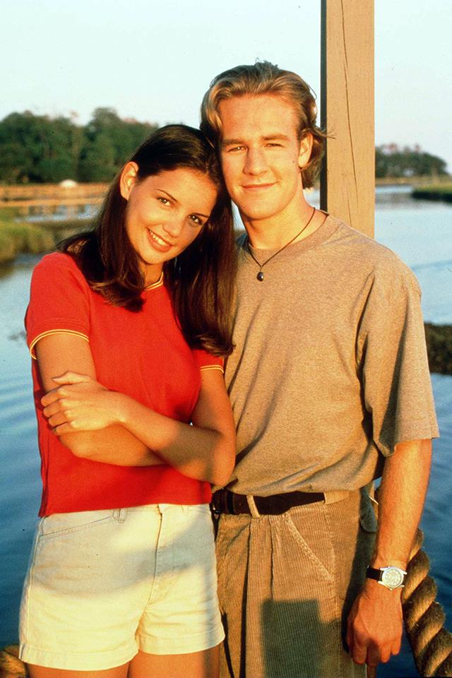 """<strong>Dawson Leary & Joey Potter</strong> <br><br> They weren't a """"real"""" couple, but when you're a teenager, what's the difference between TV and reality anyway? It felt real and that was enough. (That said, Team Pacey.)"""