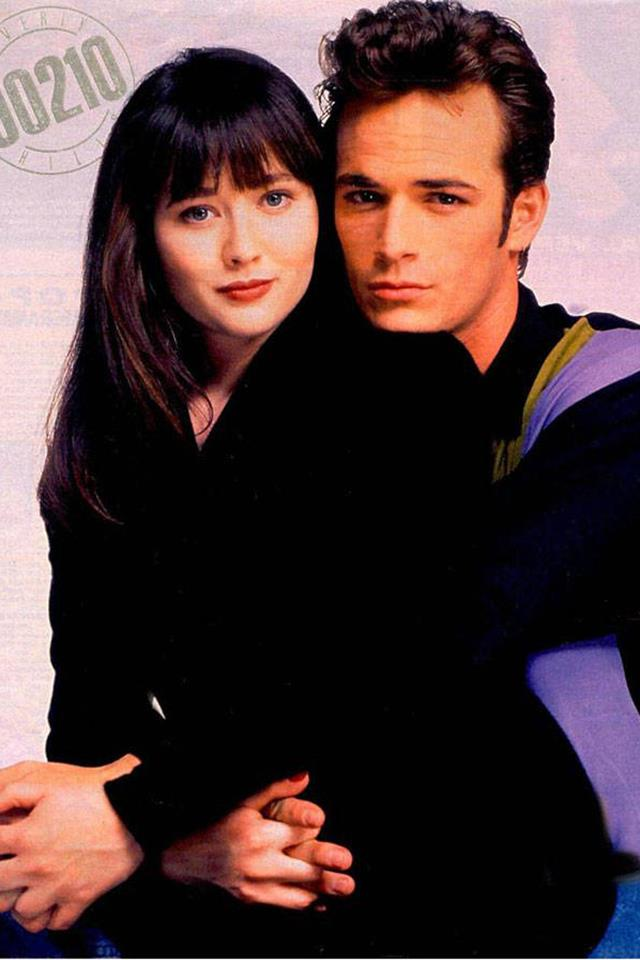 <strong>Brenda Walsh & Dylan McKay</strong> <br><br> Remember when they had sex for the first time in that hotel room after the big dance? Who didn't fantasize about losing their virginity the same way after that? So romantic and yet still home in time for curfew. Then a pregnancy scare ruined everything. And they were done for real for real when Kelly had to swoop in while Brenda was in Paris. Backstabber!