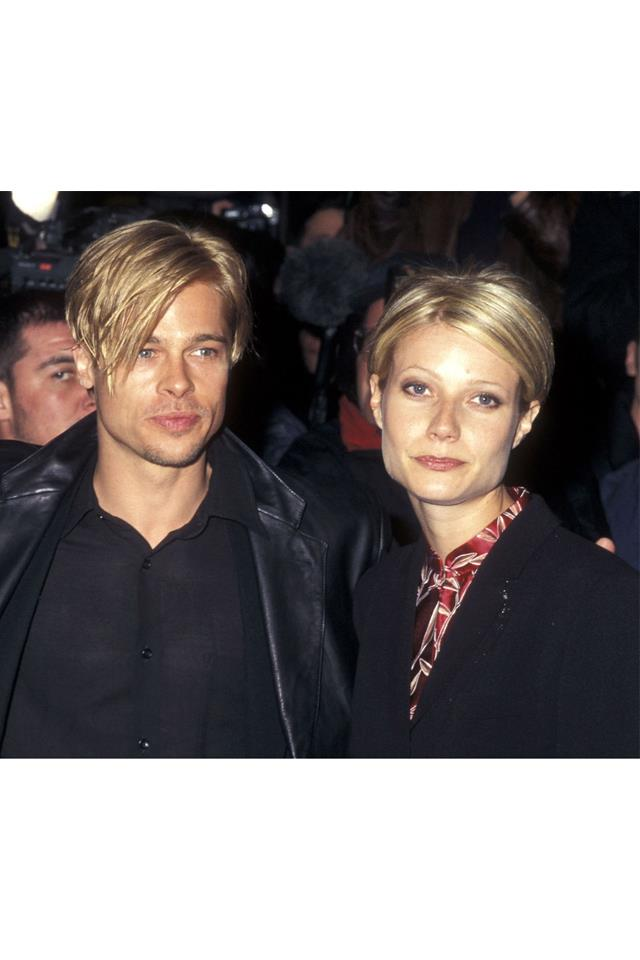 <strong>Brad Pitt & Gwenyth Paltrow <br><br> </strong> They just looked so good together, like two sides of the same perfectly coiffed coin. They even had the same haircut, which, at the time, seemed to all but ensure that they would be together forever.