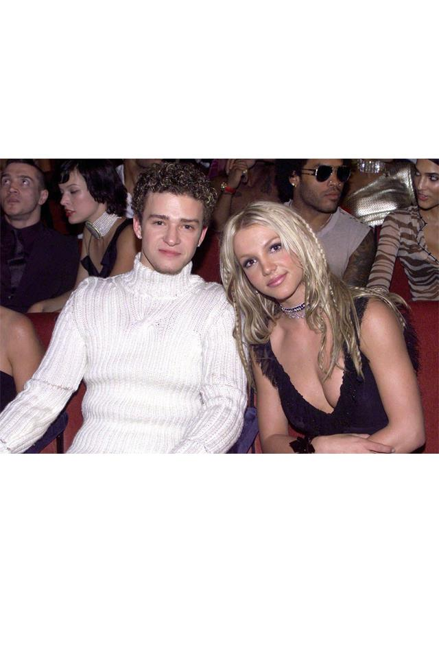 <strong>Justin Timberlake & Britney Spears</strong> <br><br> The fact that they met before they were really famous, back when they were kids performing on the Mickey Mouse Club, made them seem somehow so much more solid as a couple than if they'd gotten together after they hit it big. When they broke up, it felt like the real end of a real first love, and everyone could feel the pain. Especially Britney's. Somehow Justin seemed fine, but Britney really seemed to struggle (Kevin Federline). First love, man, it's brutal!
