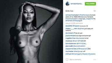 Naomi Campbell Posts Topless Photo on Instagram, Is Removed