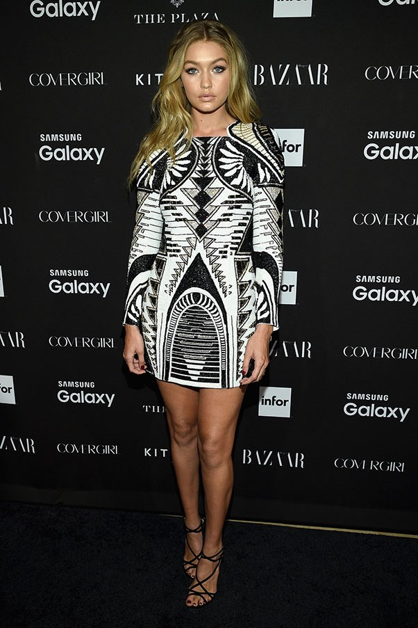 """At the <a href=""""http://www.harpersbazaar.com.au/people-parties/flash/2015/9/bazaar-icons-new-york-fashion-week-party/"""">BAZAAR Icons party</a>"""