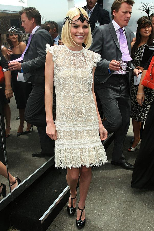 Kate Bosworth in Collette Dinnigan at Derby Day in 2006.