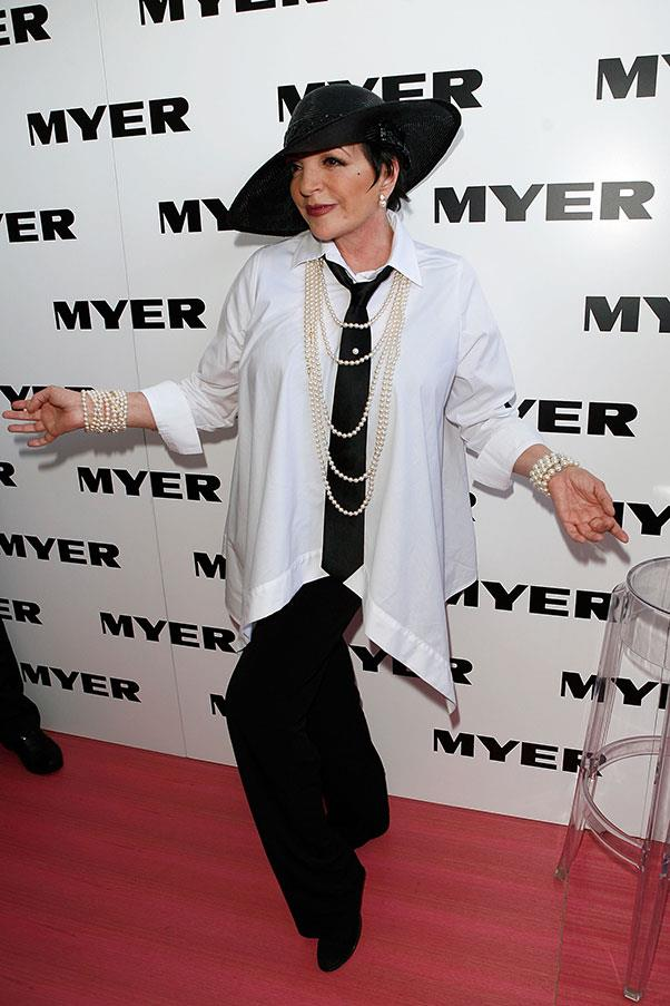 Liza Minnelli at Derby Day in 2009, where she reportedly made buff security guards carry her up every flight of stairs.