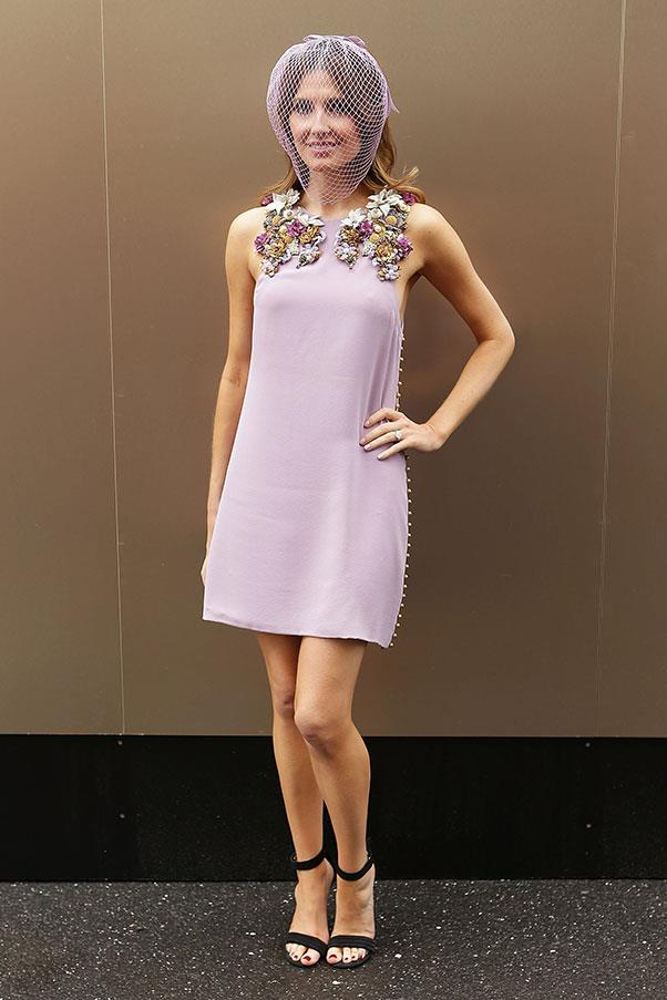 Kate Waterhouse in Gucci at the 2012 Melbourne Cup.