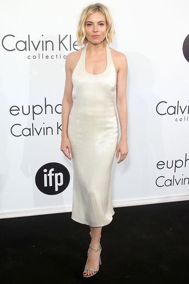 <strong>CALVIN KLEIN</strong><BR><BR> Sienna Miller at the Cannes Calvin Klein party