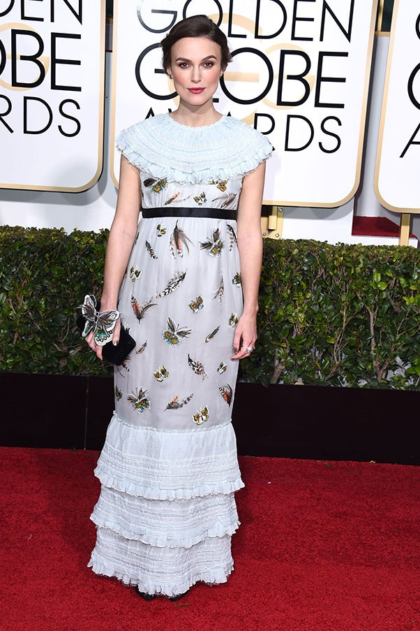 <strong>CHANEL</strong><BR><BR> Keira Knightley at the Golden Globes