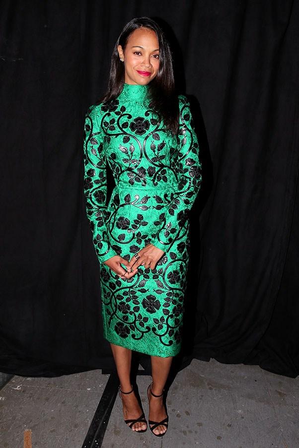<strong>DOLCE & GABBANA</strong><BR><BR> Zoe Saldana at Spike TV's Guys Choice Awards
