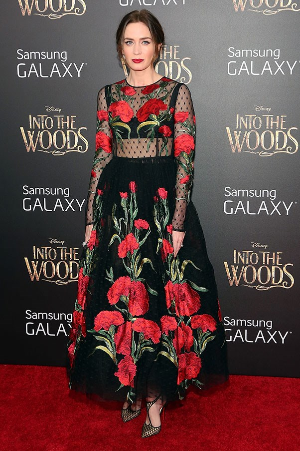 <strong>DOLCE & GABBANA</strong><BR><BR> Emily Blunt at the <em>Into the Woods</em> premiere