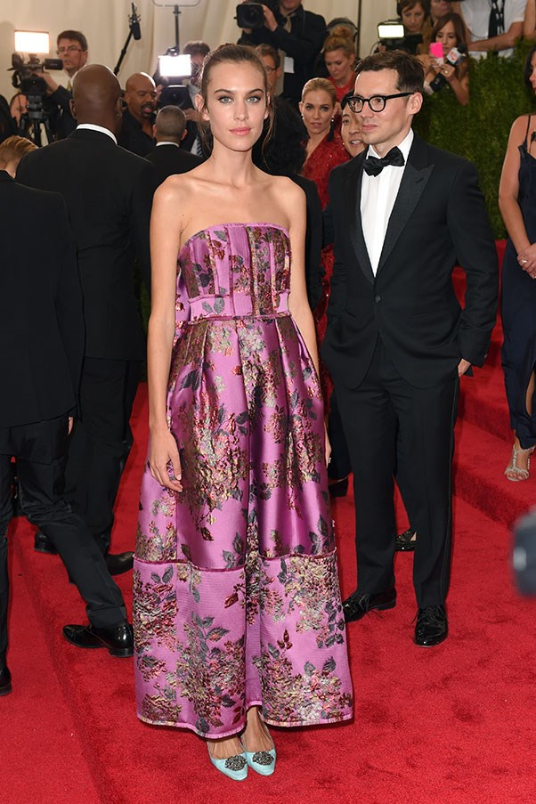 <strong>ERDEM</strong><BR><BR> Alexa Chung at the Met Gala