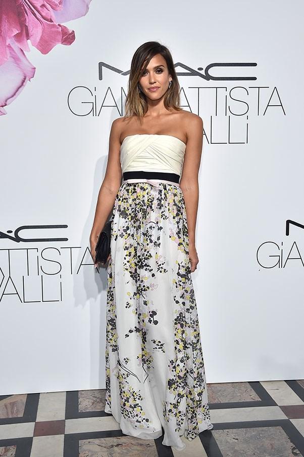 <strong>GIAMBATTISTA VALLI</strong><BR><BR> Jessica Alba at the MAC X Giambattista Valli launch