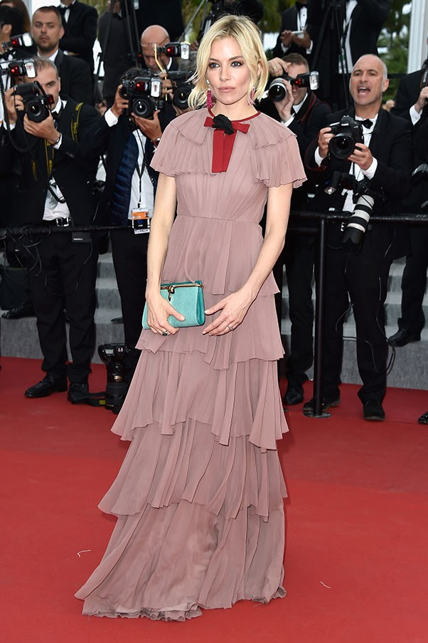 <strong>GUCCI</strong><BR><BR> Sienna Miller at Cannes