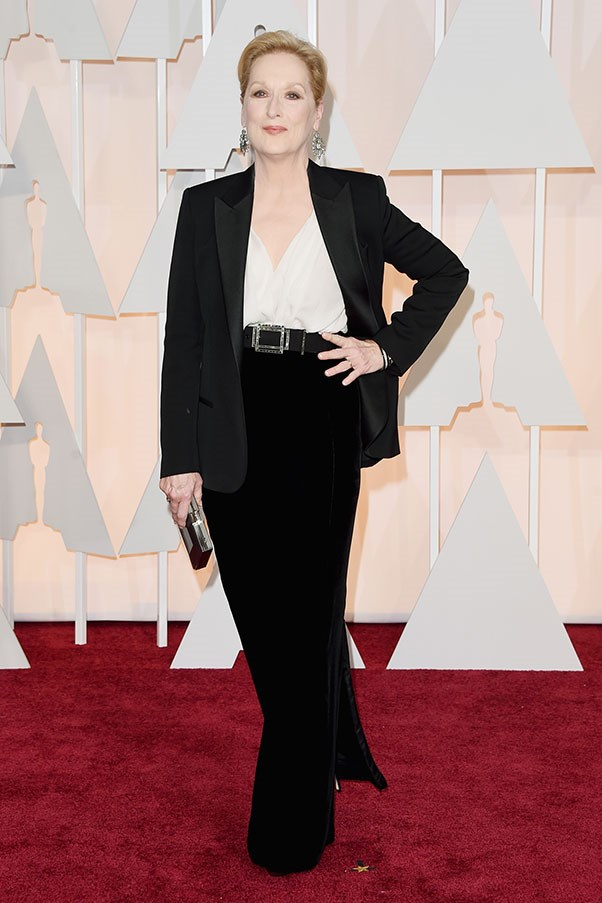 <strong>LANVIN</strong><BR><BR> Meryl Streep at the Academy Awards