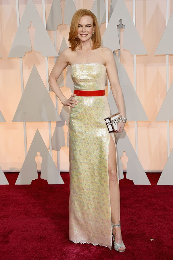 <strong>LOUIS VUITTON</strong><BR><BR> Nicole Kidman at the Academy Awards