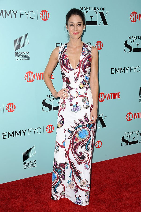 <strong>MARY KATRANTZOU</strong><BR><BR> Lizzy Caplan at the <em>Masters of Sex</em> season 3 premiere