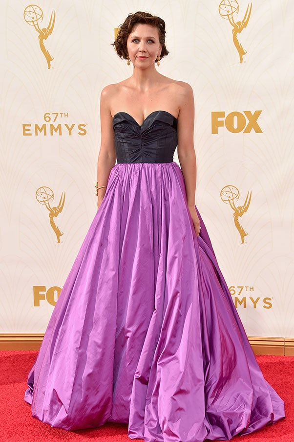 <strong>OSCAR DE LA RENTA</strong><BR><BR> Maggie Gyllenhaal at the Emmys