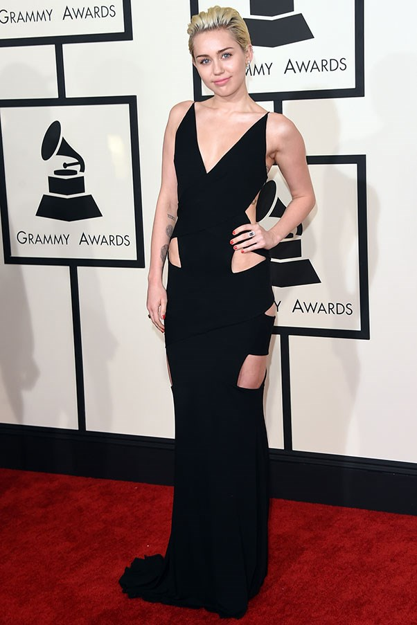 <strong>TOM FORD</strong><BR><BR> Miley Cyrus at the Grammys