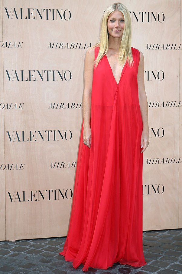 <strong>VALENTINO</strong><BR><BR> Gwyneth Paltrow at the Valentino haute couture A/W 2015-16 show