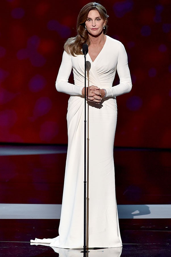 <strong>VERSACE</strong><BR><BR> Caitlyn Jenner at the ESPYS Awards