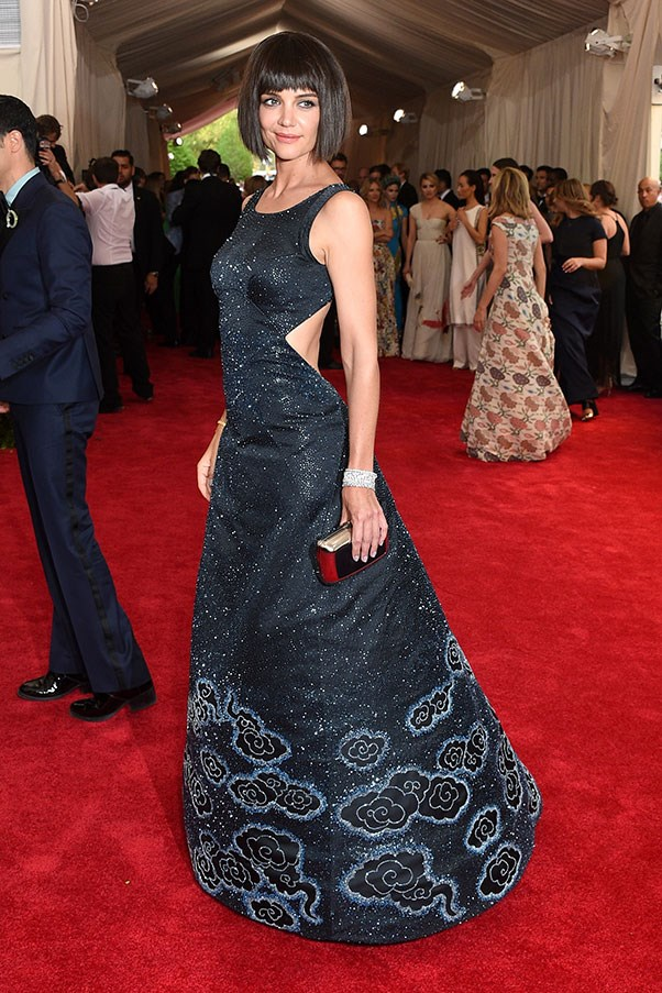 <strong>ZAC POSEN</strong><BR><BR> Katie Holmes at the Met Gala