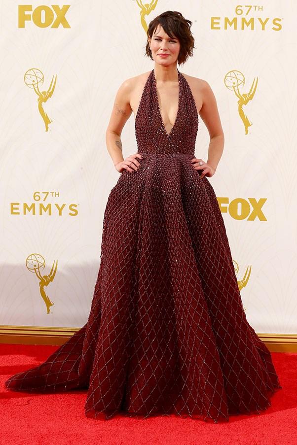 <strong>ZUHAIR MURAD</strong><BR><BR> Lena Headey at the Emmys