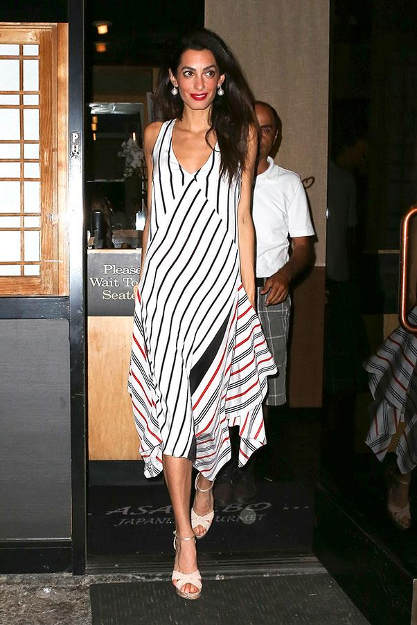"""<strong>When: </strong>26 September<br> <strong>Where: </strong>Date night with George ahead of the couples <a href=""""http://www.harpersbazaar.com.au/news/celebrity-tracker/2015/9/george-and-amal-clooneys-cutest-couple-moments/"""">first wedding anniversary</a>."""