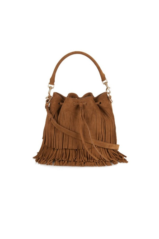 "<strong>7. A go-with-everything tan satchel:</strong> <br><br> Saint Laurent bag, $3,026, at <a href=""http://www.matchesfashion.com/au/products/Saint-Laurent-Emmanuelle-large-suede-shoulder-bag-1029681"">Matches Fashion</a>"