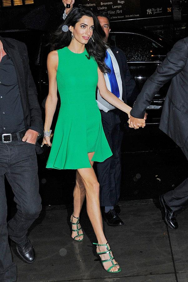 <strong>What: </strong>Versace dress and Jimmy Choo shoes<br> <strong>Where: </strong>Arriving at the New York Film Festival<br> <strong>When: </strong>September 29, 2015<br>