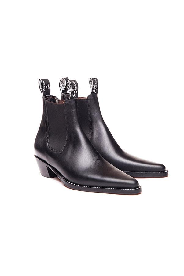 "<strong>3. A flat, black, riding boot:</strong> <br><br> Buy: R.M. Williams 'Millicent' boots, $475, at <a href=""http://www.rmwilliams.com.au/millicent/Millicent.html?dwvar_Millicent_color=41"">R.M. Williams</a>"