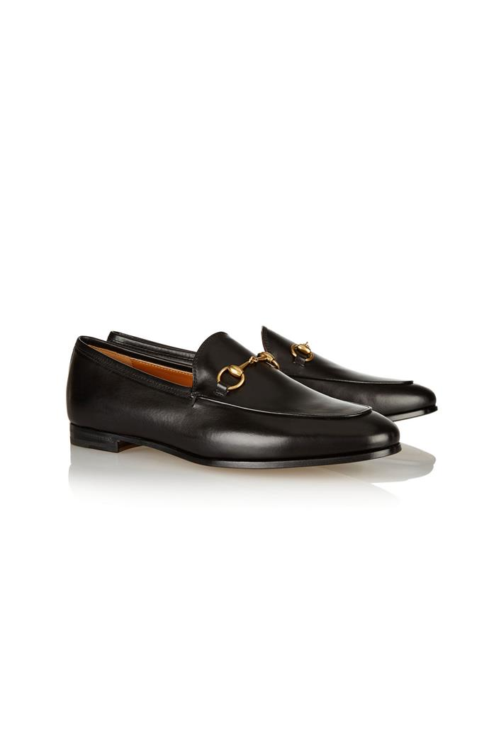 "<strong>5. A man-style loafer:</strong> <br><br> Buy: Gucci horsebit-detailed leather loafers, $815, at <a href=""http://www.net-a-porter.com/au/en/product/607331"">Net-a-Porter</a>"