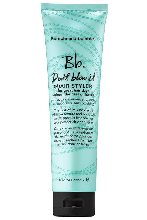 "This ingenious hair cream is an incessant sell out, thanks to its no mess, no fuss approach to styling. Scrunch into damp hair to create texture and protect against the sun. <strong>Bumble and Bumble Don't Blow It, $43 at <a href=""http://mecca.com.au/"">Mecca</a>.</strong>"