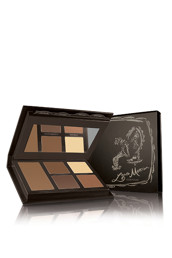 "Laura Mercier has carefully selected each shade in this palette to simplify contouring, with 5 highlight and matte options in a creamy formula that makes them super blendable. <strong>Laura Mercier Flawless Contouring Palette, $69, at <a href=""http://www.davidjones.com.au"">David Jones</a>.</strong>"