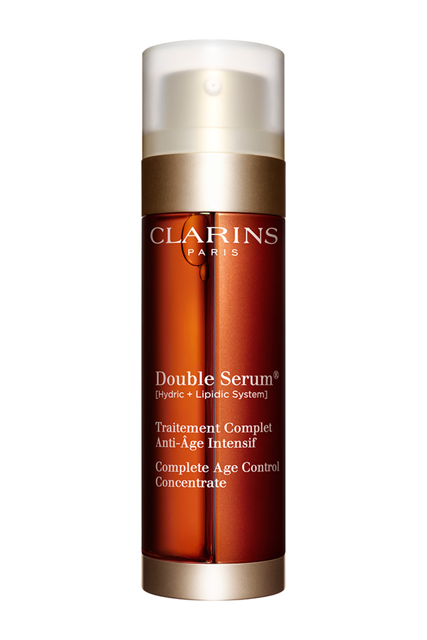 "Sold globally every 30 seconds, the unique formula combines 20 dynamic anti-ageing plant extracts to deliver and assist with hydration, nutrition, protection and regeneration. <strong> Clarins Double Serum, $90-$120, at <a href=""http://www.davidjones.com.au"">David Jones</a>.</strong>"