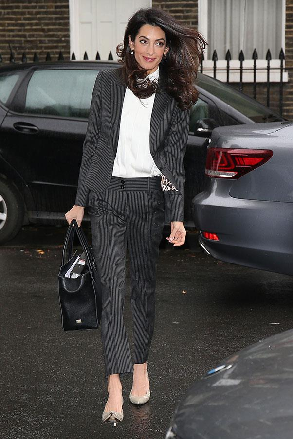 <strong>What: </strong>Dolce & Gabbana suit and bag<br> <strong>Where: </strong>Heading to work in London<br> <strong>When: </strong>October 5, 2015<br>