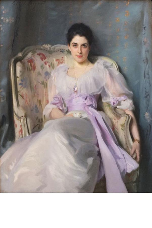 <strong>7. LADY AGNEW OF LOCHNAW (1865-1932)</strong><BR><BR> <strong>Known For:</strong> The wife of a baronet and the subject of one of John Singer Sargent's most famous society portraits. <strong>Signature Style:</strong> Dark hair pulled back into a bun, white dresses and a piercing stare. <strong>Why We Love Her:</strong> She is proof of the power of art- this portrait (along with the sizeable clothing budget she received from her older husband) launched her as one of the leaders of England's high society.