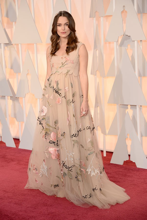 Keira Knightley, 2015 (in Chanel at the Academy Awards).