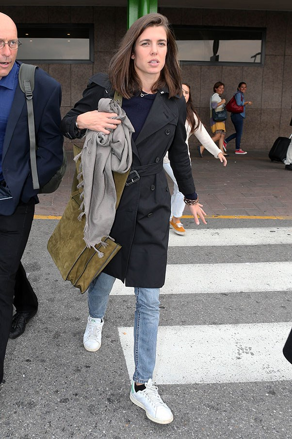 <strong>8. White sneakers</strong><br><br> Charlotte Casiraghi