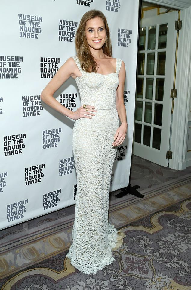 3. Alison Williams in Dolce & Gabanna at the Museum of the Moving Image Honours.