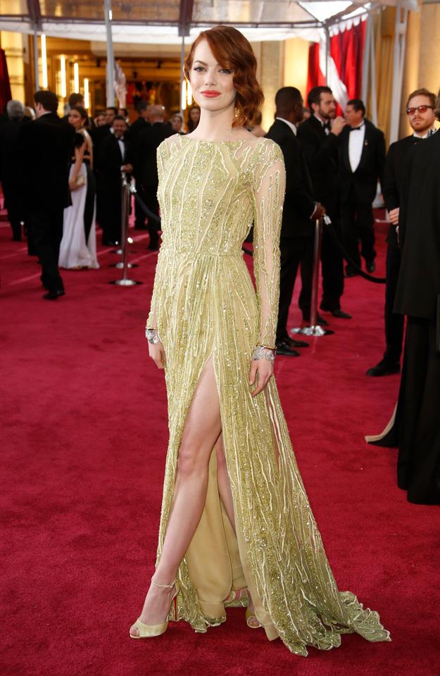 4. Emma Stone arriving at the 87th Academy Awards.