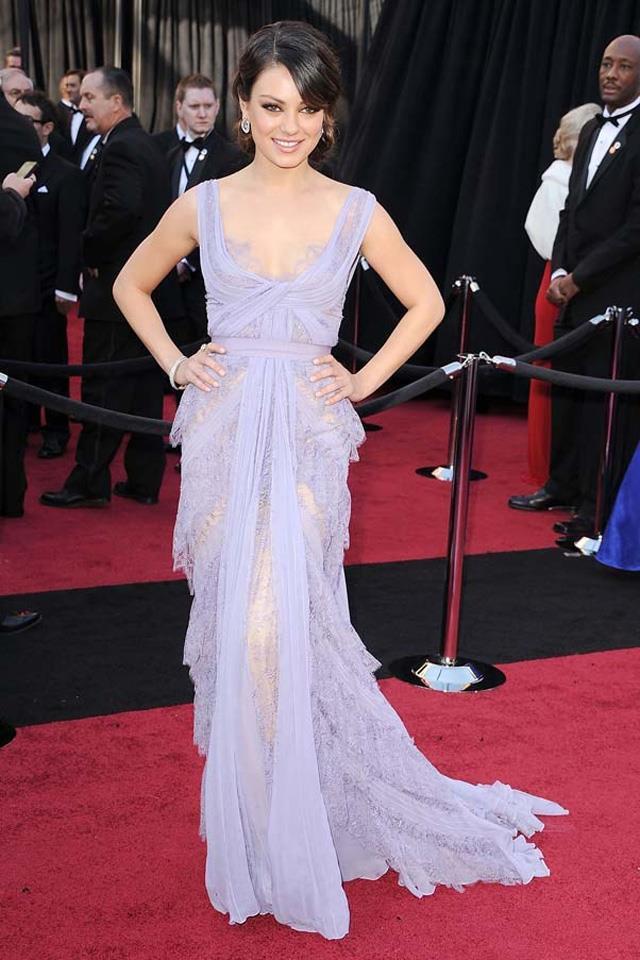 5. Mila Kunis at the 2011 Academy Awards in Elie Saab.